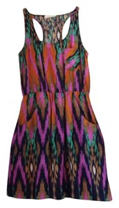 The Impeccable Pig short dress Green, Purple on Tradesy
