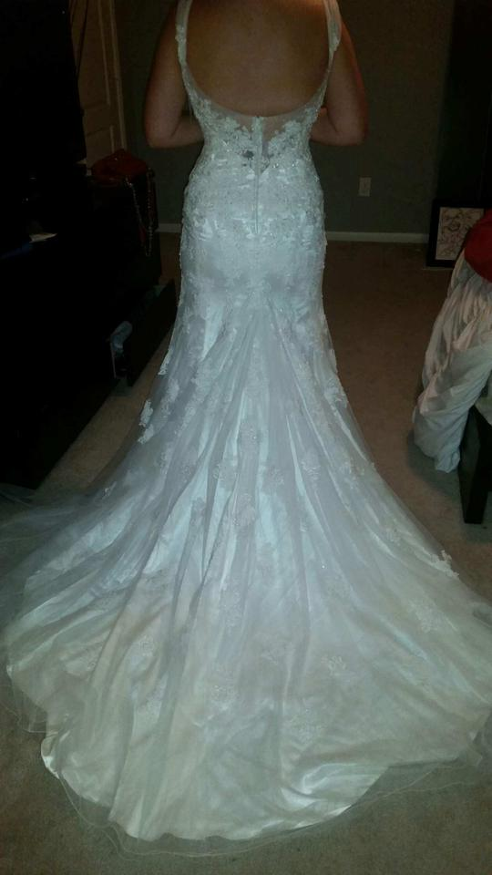 Sophia Tolli Ivory Lance and Tulle Jairta Y11569 Wedding Dress Size ...