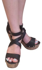Michael Antonio Chunky Strappy Summer Black Sandals