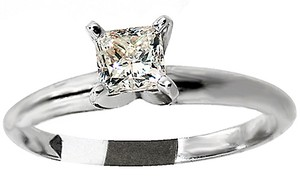 ABC Jewelry Diamond Engagement Ring Princess Cut .52tcw J/i1 14k White Gold Made In Usa