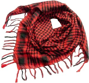 Other Red & Black Plaid Fringed Scarf Free Shipping