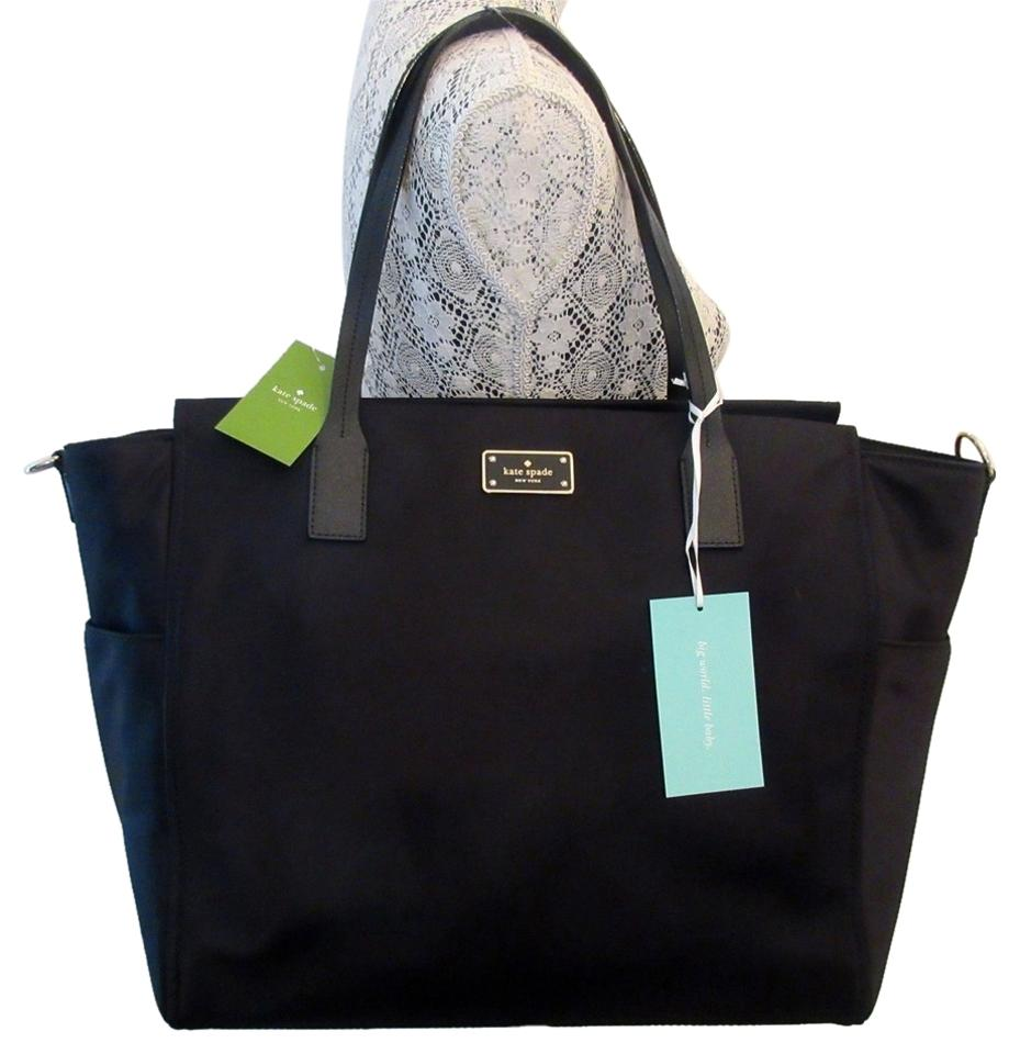 8d660af497 Kate Spade New Big Changing Pad Tote Black Nylon Diaper Bag - Tradesy