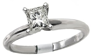ABC Jewelry Diamond Solitaire Engagement Ring .49tcw J/si3 14kt White Gold Made In Usa