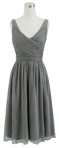 J.Crew Silk Gray Dress