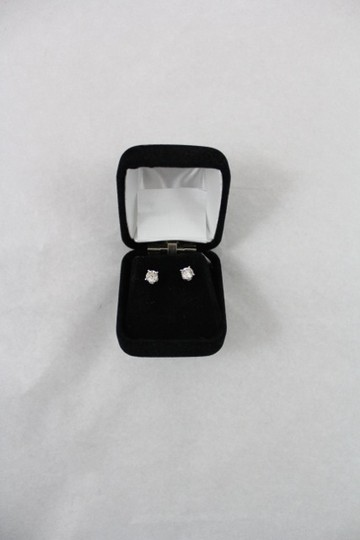 Other Diamond earrings Round studs All Natural .92TCW M/Si3 14k White Gold Made In USA