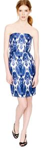 J.Crew Silk Ikat Bodice Strapless Dress