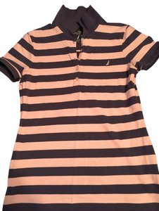 Nautica T Shirt Navy Blue and Pink