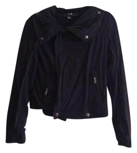 Item - Black Piping Easy Jacket Size 8 (M)
