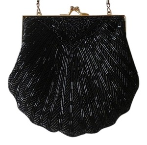 Carla Marchi Evening Beaded Vintage Black Clutch