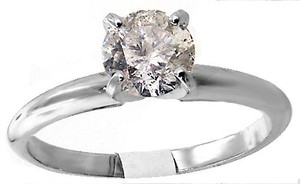 ABC Jewelry Diamond Engagement Ring Round Solitaire .90tcw H/i1 14k White Gold Made In Usa