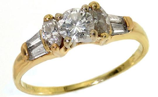 ABC Jewelry Diamond Wedding Ring Round Marquise .75 Tcw 14 Kt Yellow Gold Estate Natural