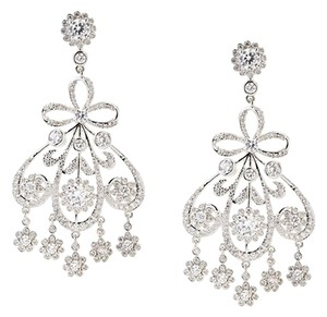 CZ by Kenneth Jay Lane CZ by Kenneth Jay Lane Pave CZ Girondelle Post Earrings