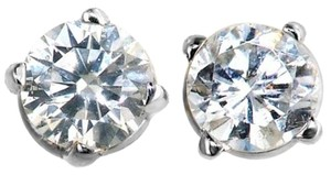 ABC Jewelry Diamond Earrings Round Stud Natural .18TCW G/SI3 14k White Gold Made In USA
