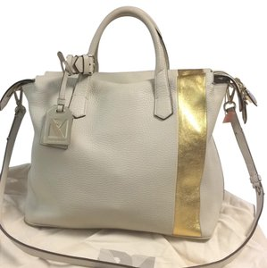 Reed Krakoff Satchel in White And Gold