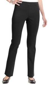JM Collection Slim Leg Tummy Control Straight Pants Black