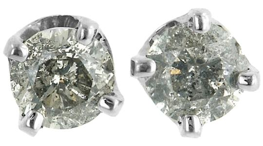 ABC Jewelry Diamond Earring Studs All Natural .38TCW H/i1 14k White Gold Made In USA