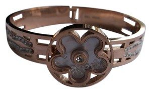 Steel Time Ion PTD Rosegold Bangle Cuff with Austrian Crystals w Free Shipping