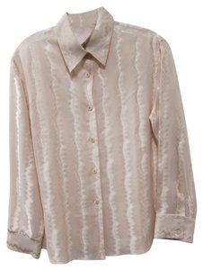 Gucci Button Down Blouse Zigzag Button Down Shirt Pink