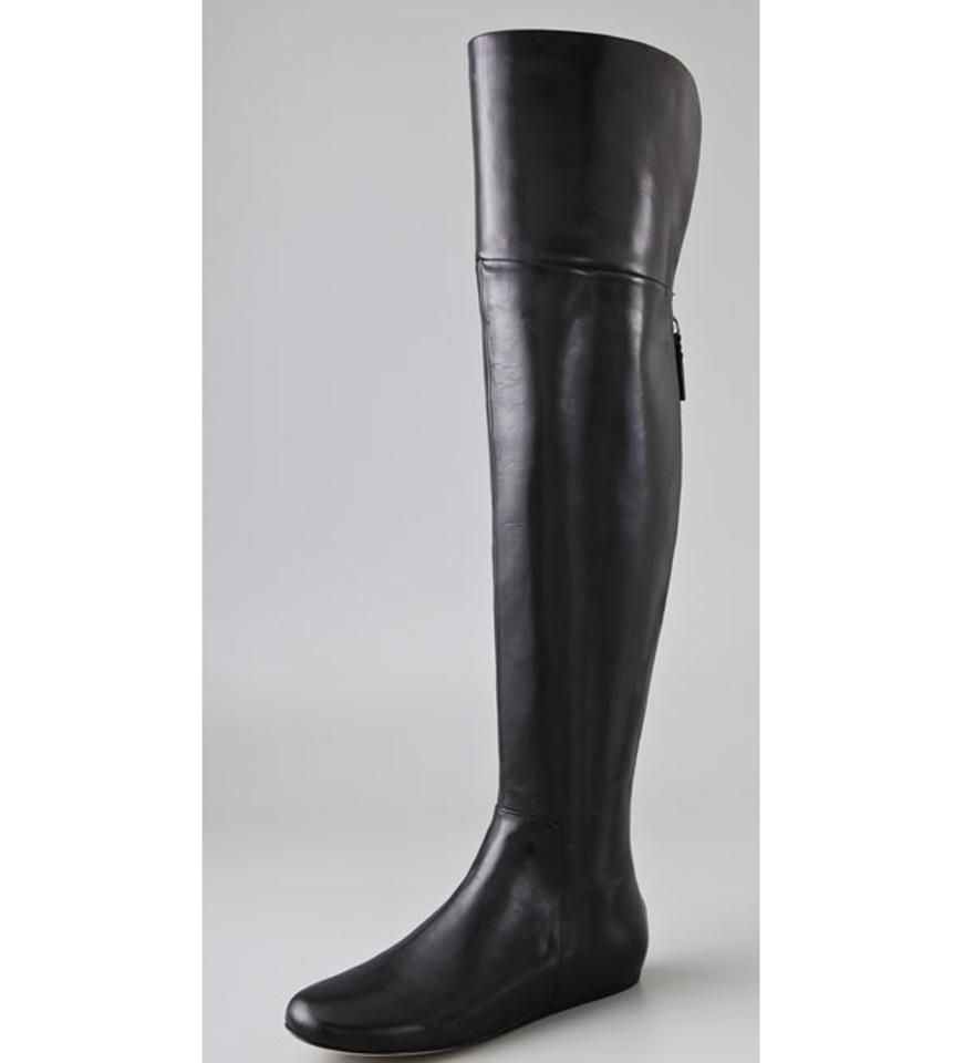 6fa025bbca5 Vera Wang Lavender Label Verawanglavender Thigh Thigh High Leather Larissa  black Boots Image 10. 1234567891011