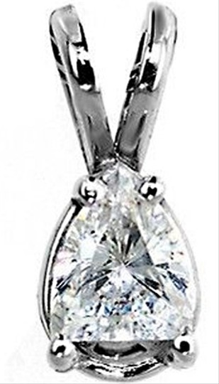 ABC Jewelry Diamond Pear Shaped Pendant Not Enhanced .48TCW H/Si3 14k White Gold Made In USA