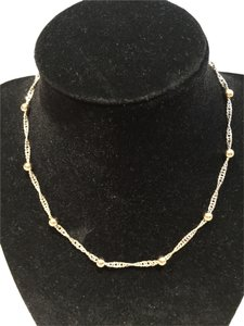 Twisted Two-Tone Ball and Chain Necklace