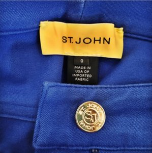St. John Straight Pants Royal Blue