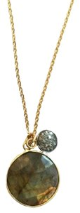 Independent Clothing Co. Labradorite Necklace with 8mm Pave Diamond Charm