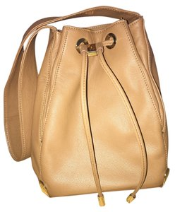 Vince Camuto Leather Tote Drawstring Hobo Bag