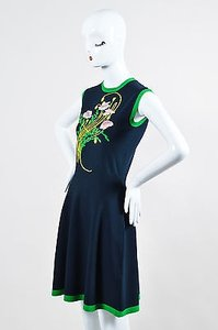 Christopher Kane Navy Green Dress