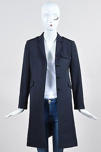 Miu Miu Navy Wool Coat