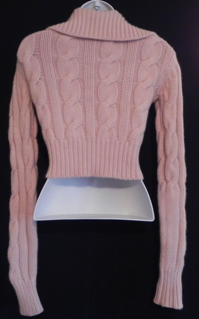 Joie Cashmere Cropped Cable Knit Cardigan