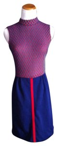 short dress Blue/red/white on Tradesy