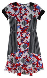 Peter Pilotto for Target Print Floral Bold Stripe Red Dress