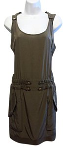 BCBGMAXAZRIA short dress Olive Green on Tradesy