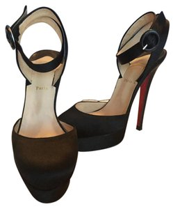 Christian Louboutin Black Satin Pumps