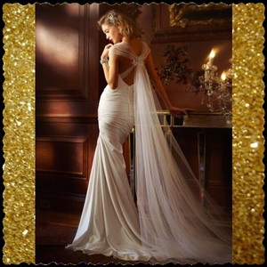 David's Bridal David's Bridal Trumpet Style Dress Wedding Dress