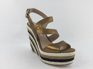 Brian Atwood Dark Gold Wedges