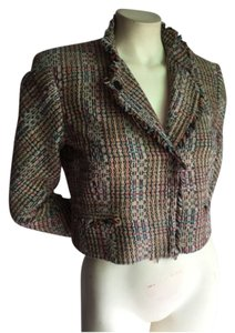 Theory Tweed Jacket Chanel Tweed Cropped Multi-Colored Blazer