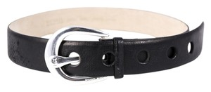 Michael Kors Michael Kors black contour horseshoe Buckle belt