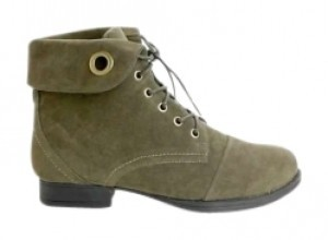 Comfortview Hiker Easy Lace-up Padded Insole Nonskid Rubber Sole Soft Microsuede Imported Olive Boots