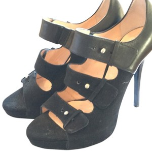 Jerome C. Rousseau Black leather and suede Platforms