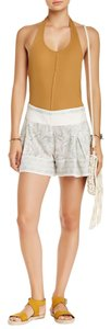 Free People Shorts Ivory Combo