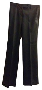 BCBGMAXAZRIA Office Business Casual Straight Pants black pinstripe brown grey