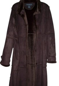 Centigrade Faux Suede Trench Trench Coat