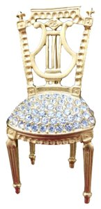 Karl Lagerfeld Lyre-back Chair Brooch