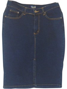 Angels Jeans Blue Jean Skirt indigo blue