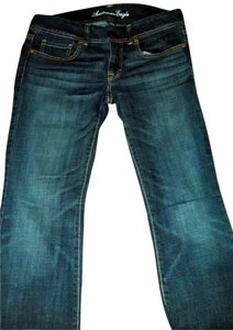 American Eagle Outfitters Stretch Denim Slim Boot Cut Jeans-Dark Rinse