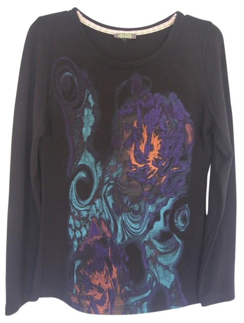 Preload https://img-static.tradesy.com/item/1210310/black-casual-with-abstract-print-long-sleeve-sweaterpullover-size-8-m-0-0-650-650.jpg