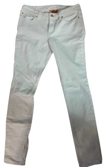 Item - White Light Wash Straight Leg Jeans Size 30 (6, M)