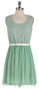 Modcloth short dress mint Mod Retro Vintage Lace on Tradesy